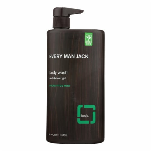 Every Man Jack Body Wash Eucalyptus Mint Body Wash - Case of 33.8 - 33.8 fl oz. Perspective: front