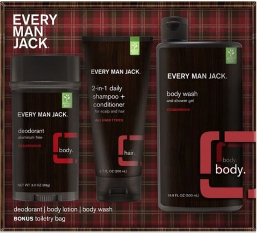 Every Man Jack Cedarwood Body Kit Perspective: front