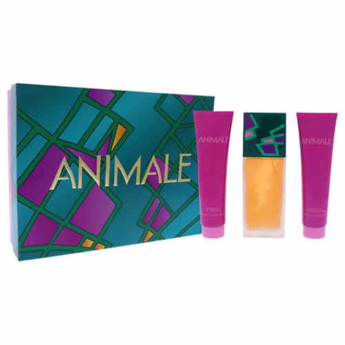 Animale Animale 3.4oz EDP Spray, 3.4oz Body Lotion, 3.4oz Shower Gel 3 Pc Gift Set Perspective: front