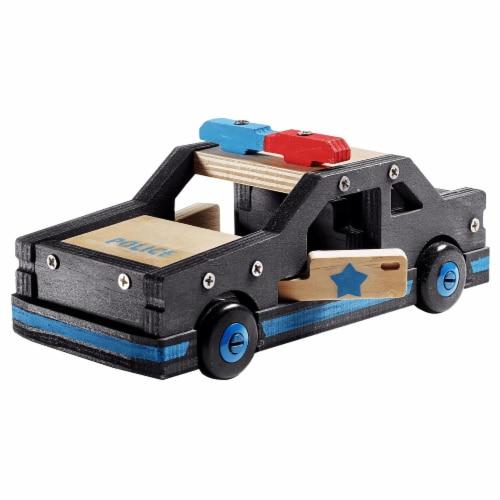 Stanley Jr. Police Car Large DIY Wood Building Kit Perspective: front