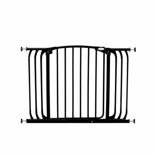 Dreambaby L798B Chelsea 38 to 46 Inch Auto-Close Baby Pet Safety Gate, Black Perspective: front