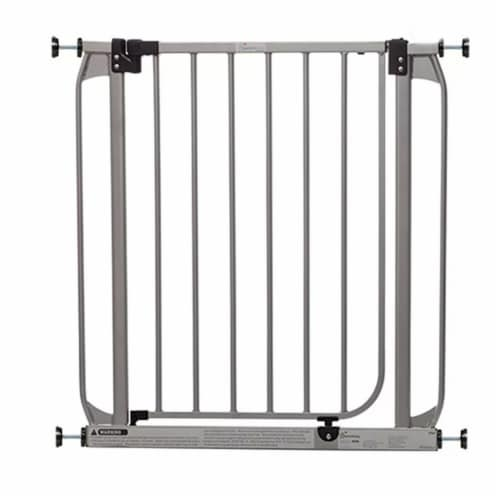 Dreambaby L894S Dawson 28 to 32 Inch Auto-Close Stay Open Security Gate, Silver Perspective: front