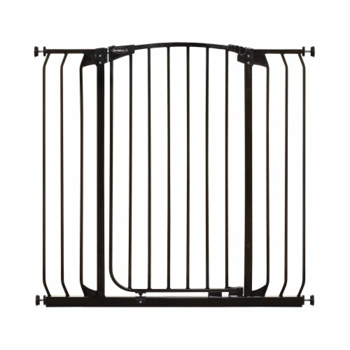 Bindaboo B1124 Zoe 38 to 42.5IN Extra Tall Wide Auto-Close Baby Pet Gate, Black Perspective: front