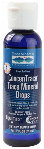 Trace Minerals Research  ConcenTrace® Trace Mineral Drops Perspective: front