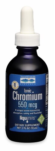 Trace Minerals Research Ionic Chromium 550mcg Perspective: front