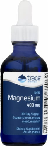 Trace Minerals Ionic Magnesium Dietary Supplement 400mg Perspective: front