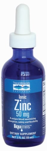 Trace Minerals Ionic Zinc 50 Mg Dietary Supplement Perspective: front