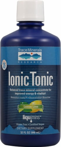 Trace Minerals Research  ConcenTrace®   Lemon Lime Perspective: front