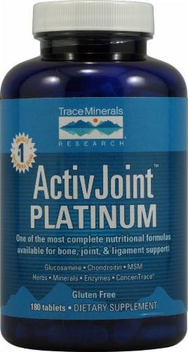 Trace Minerals Research ActivJoint Platinum Tablets Perspective: front