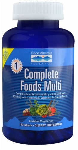Trace Minerals Research  Complete Foods Multi™ Perspective: front
