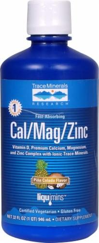 Trace Minerals Research  Liquid Cal-Mag-Zinc   Pina Colada Perspective: front