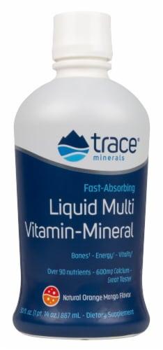 Trace Minerals Research  Liquid Multi Vita-Mineral   Natural Orange Mango Perspective: front