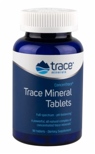 Trace Minerals Research  ConcenTrace Trace Mineral Tablets Dietary Supplement Perspective: front