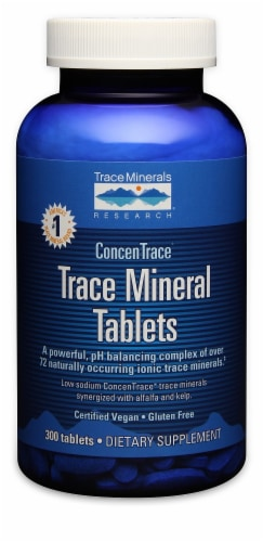 Trace Minerals Trace Mineral Tablets Perspective: front