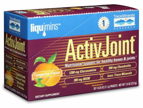 Trace Minerals Research Tangerine Flavored ActivJoint Supplement Perspective: front