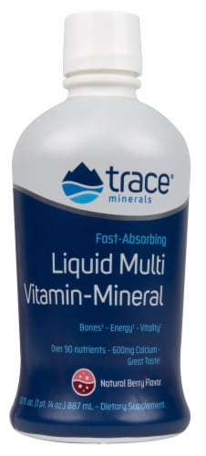 Trace Minerals Research  Liquid Multi Vitamin-Mineral   Natural Berry Perspective: front