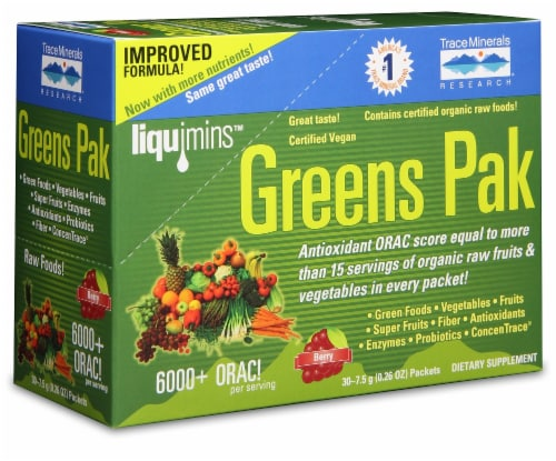 Trace Minerals Berry Greens Pak Perspective: front