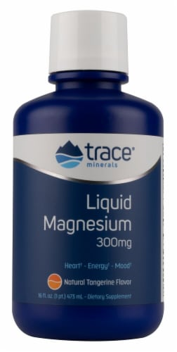 Trace Minerals Research  Liquid Magnesium   Natural Tangerine Perspective: front