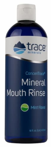Trace Minerals Research  ConcenTrace® Mineral Mouth Rinse   Mint Perspective: front