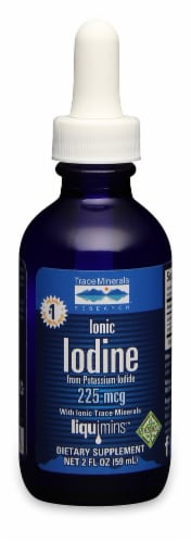 Trace Minerals Ionic Iodine 225mcg Liquid Perspective: front