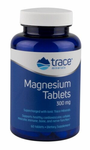 Trace Minerals Research  Magnesium Tablets Perspective: front