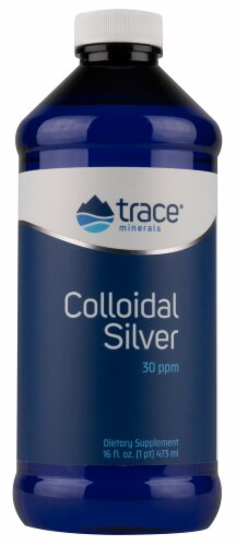 Trace Minerals Research  Colloidal Silver 30 ppm Perspective: front