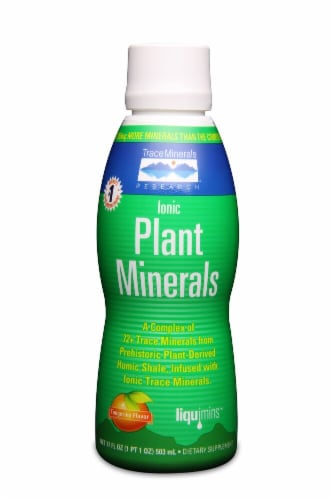 Trace Minerals Research  Ionic Plant Minerals Dietary Supplement   Tangerine Perspective: front