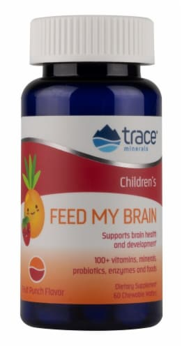 Trace Minerals Research  Feed My Brain for Children   Fruit Punch Perspective: front