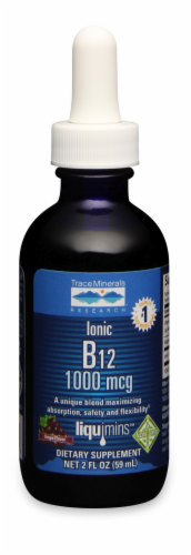 Trace Minerals Liquid Ionic B12 1000 Mcg Perspective: front
