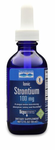 Trace Minerals Research  Ionic Storntium Dietary Supplement Perspective: front