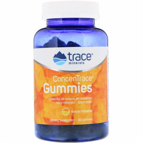Trace Minerals Research Natural Pineapple ConcenTrace Gummies Perspective: front