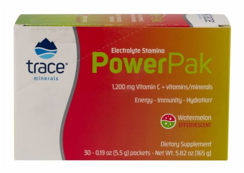 Trace Minerals Research Watermelon Electrolyte Stamina PowerPak Packets Perspective: front