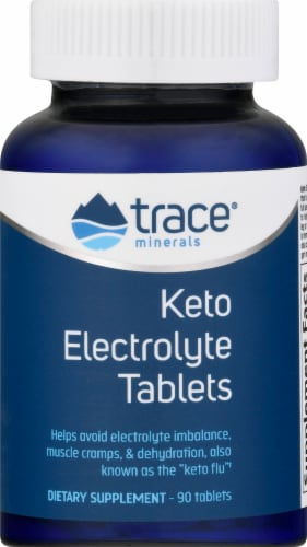 Trace Minerals Research Keto Electrolyte Tablets Perspective: front