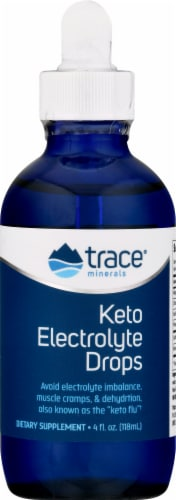 Trace Minerals Research Keto Electrolyte Drops Perspective: front