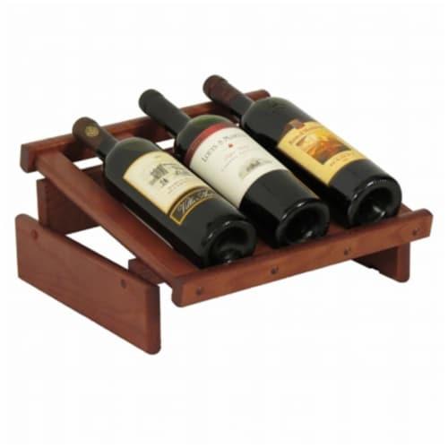 Wooden Mallet 3 Bottle Dakota Wine Display Perspective: front