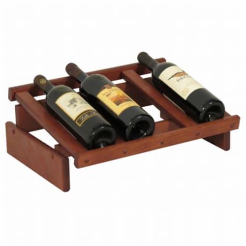 Wooden Mallet 4 Bottle Dakota Wine Display Perspective: front