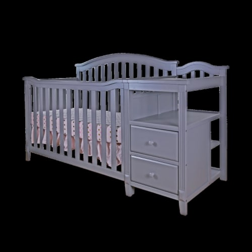 Athena 4566G AFG Kali 4-in-1 Crib with Changer, Grey Perspective: front