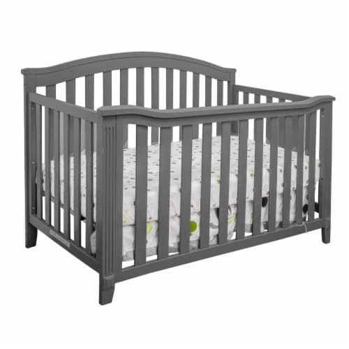 Athena 456G AFG Kali 4-in-1 Convertible Crib, Grey Perspective: front