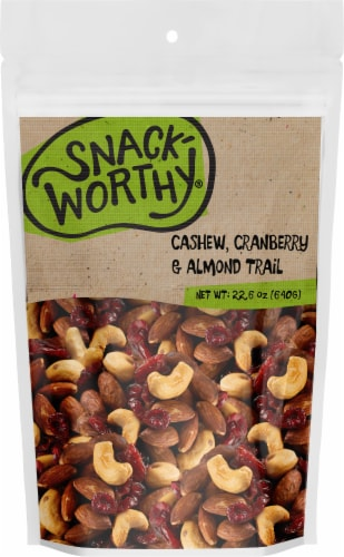 Snackworthy Cranberry & Almond Trail Trail Mix Perspective: front