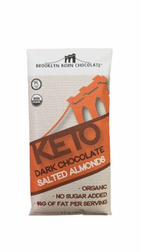 Brooklyn Born Chocolate Keto Dark Chocolate Salted Almonds Bar Perspective: front