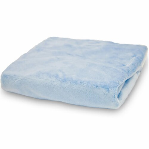 Rumble Tuff CV-CT-300-BL Standard Silky Minky Changing Pad Cover - Blue Perspective: front
