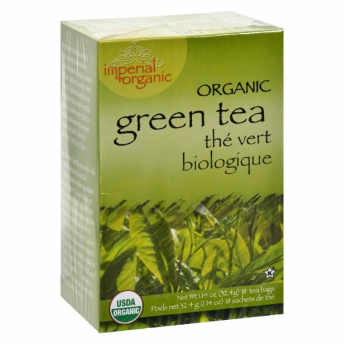 Uncle Lee's Imperial Organic Green Tea - 18 Tea Bags Perspective: front