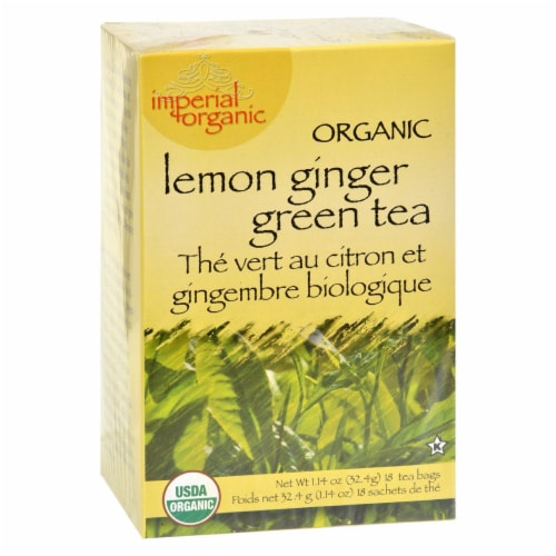 Uncle Lee's Tea Organic Imperial Lemon Ginger - 18 Bags Perspective: front