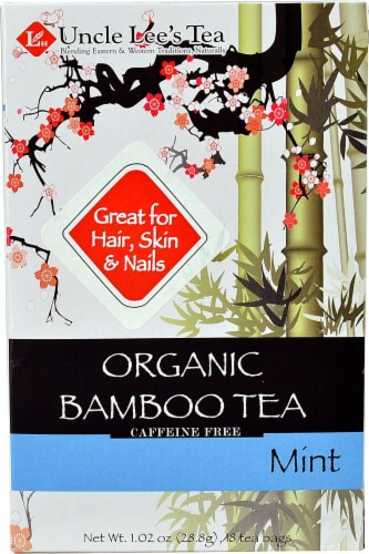 Uncle Lee's  Organic Bamboo Tea   Mint Perspective: front