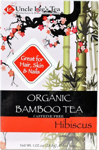 Uncle Lee's  Organic Bamboo Tea   Hibiscus Perspective: front