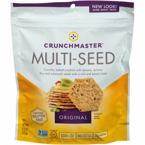 Crunchmaster Original Multi-Seed Crackers Perspective: front