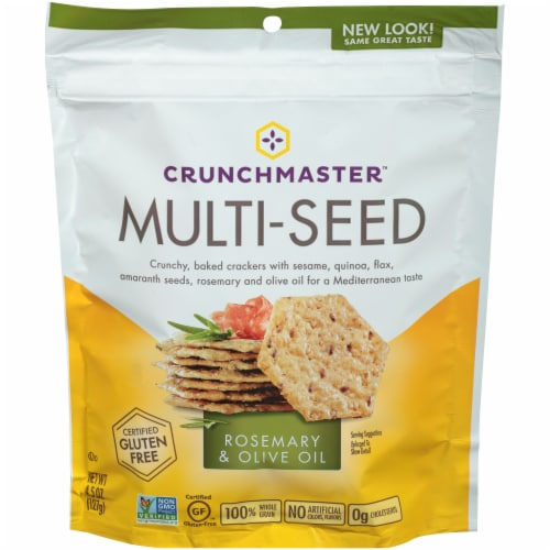 Crunchmaster Rosemary & Olive Oil Multi-Seed Crackers Perspective: front