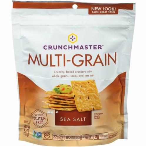 Crunchmaster Sea Salt Multi-Grain Crackers Perspective: front