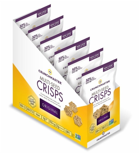 Crunch Master Gluten Free Original Multi-Seed Crisp Crackers Perspective: front