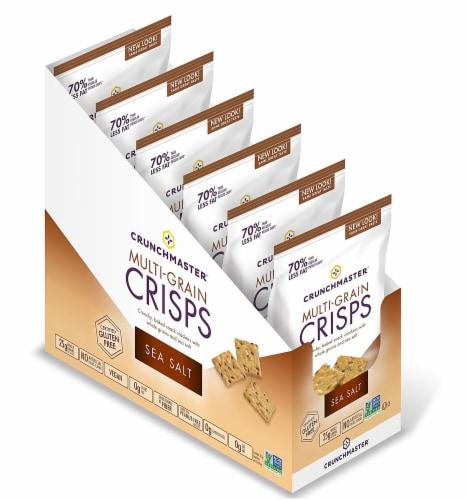 Crunch Master Gluten Free Sea Salt Multi-Grain Crisp Crackers Perspective: front